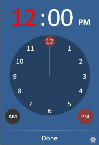 استفاده از Time Picker در اکسل